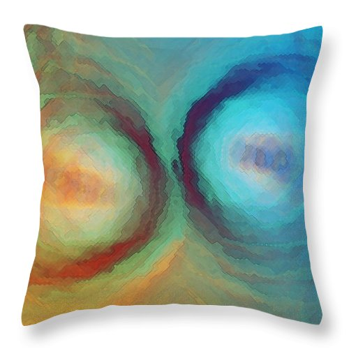 Opposites Throw Pillow featuring the digital art Push To Shove by Shawn McCoy