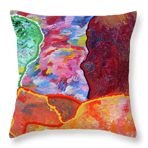 Fusionart Throw Pillow featuring the painting Puzzle by Ralph White
