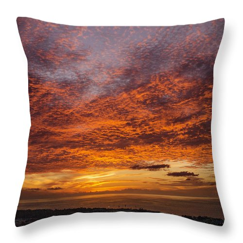 Sky Throw Pillow featuring the photograph Pyre by Guillermo Cummmings