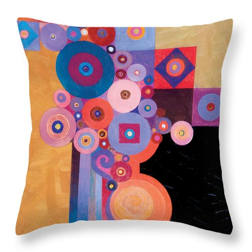 Abstract Painting Throw Pillow featuring the painting Pythagorean Abstract II by Bob Coonts