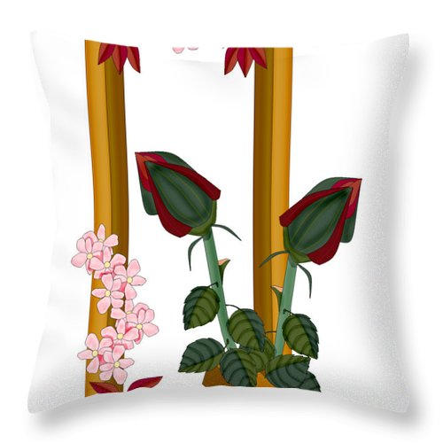 Q Throw Pillow featuring the painting Q is for Quality of Life by Anne Norskog