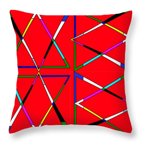 Triangle Throw Pillow featuring the photograph Quad Triangles Rotated by Chris Mercer