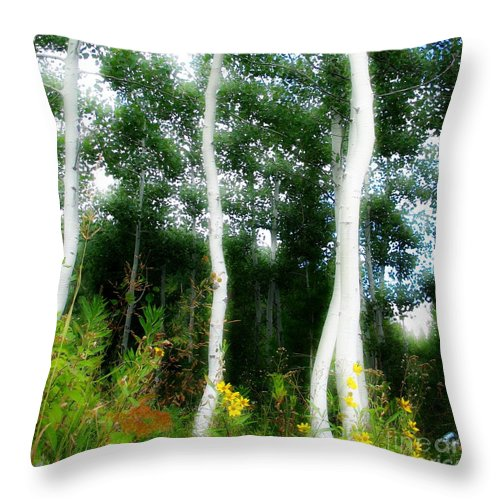 Aspens Throw Pillow featuring the photograph Quaking by Idaho Scenic Images Linda Lantzy