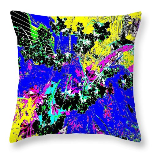 Square Throw Pillow featuring the digital art Quantiza 1 by Eikoni Images
