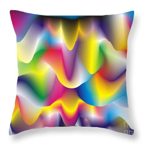 Abstract Throw Pillow featuring the digital art Quantum Landscape 1 by Walter Neal