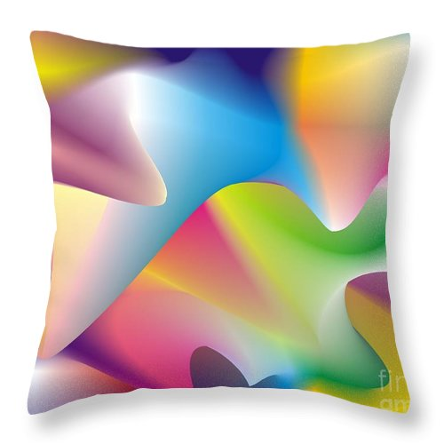 Abstract Throw Pillow featuring the digital art Quantum Landscape 2 by Walter Neal