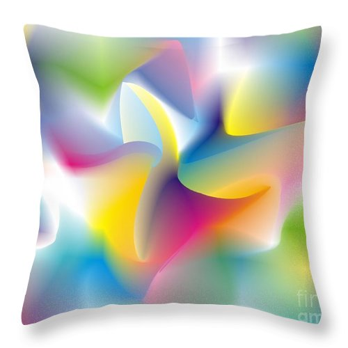 Abstract Throw Pillow featuring the digital art Quantum Landscape 4 by Walter Oliver Neal
