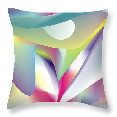 Abstract Throw Pillow featuring the digital art Quantum Landscape 5 by Walter Oliver Neal