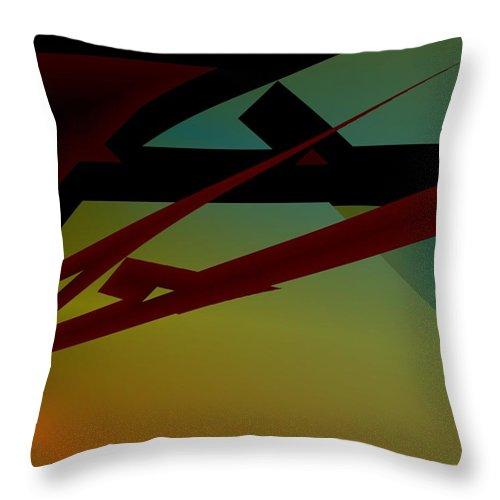 Quarter Throw Pillow featuring the digital art Quarter by Helmut Rottler