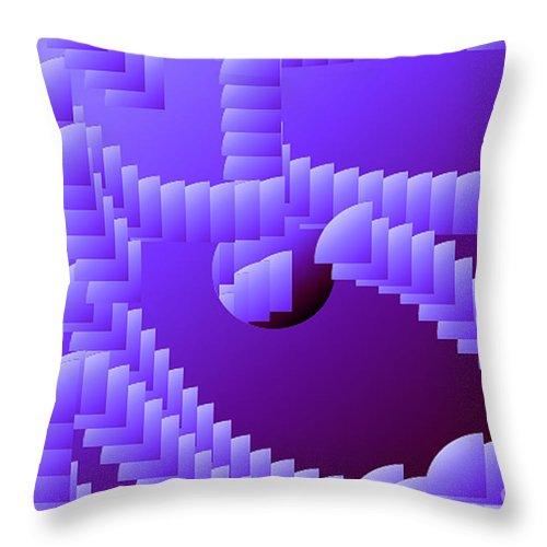 Digital Throw Pillow featuring the digital art Quarter Shell by Ron Bissett