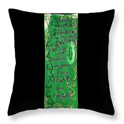 Gallery Throw Pillow featuring the painting Quatrain Whole by Dar Freeland