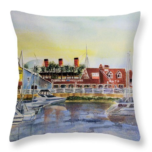 Watercolor Throw Pillow featuring the painting Queen Of The Shore by Debbie Lewis