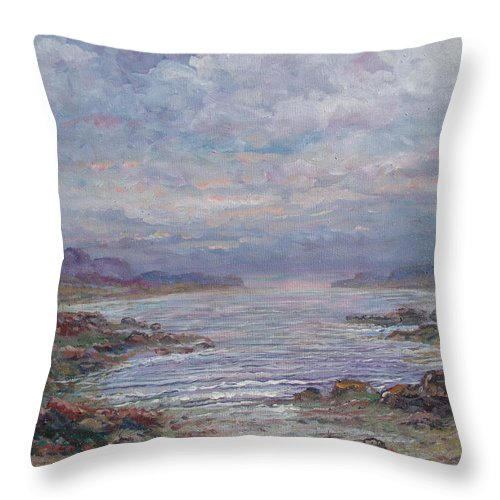 Painting Throw Pillow featuring the painting Quiet Bay. by Leonard Holland
