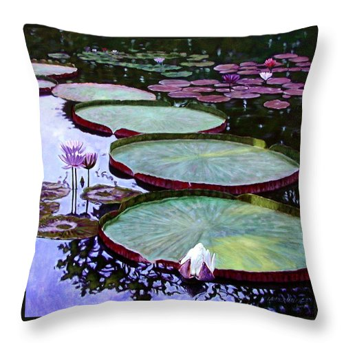Botanical Throw Pillow featuring the painting Quiet Beauty by John Lautermilch