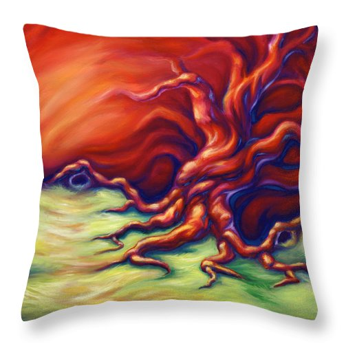 Oil Painting Throw Pillow featuring the painting Quiet Place by Jennifer McDuffie