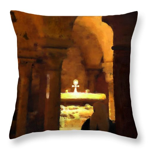 Prayer Throw Pillow featuring the painting Quiet Prayers by Stephen Lucas