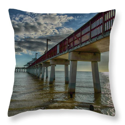 Beach Throw Pillow featuring the photograph Quiet Time At The Beach by Judy Hall-Folde