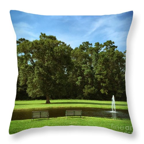 Pond Throw Pillow featuring the photograph Quiet Time by John W Smith III
