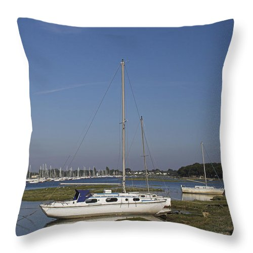 Quiet Throw Pillow featuring the photograph Quiet Waters by Hazy Apple