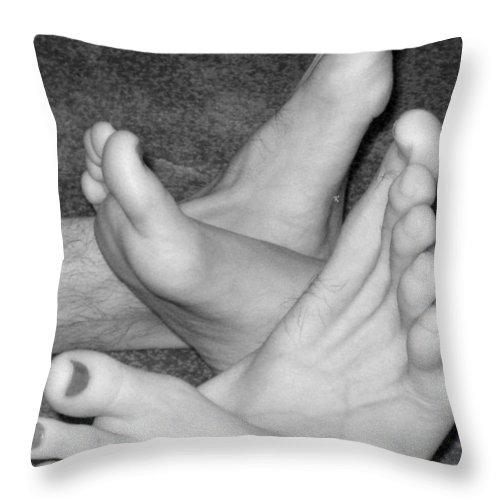 Feet Throw Pillow featuring the photograph Quite A Pair by John Krakora