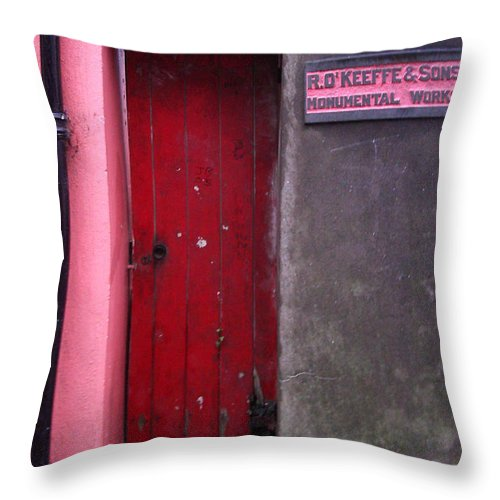 Red Throw Pillow featuring the photograph R. O. Keeffee And Sons by Tim Nyberg