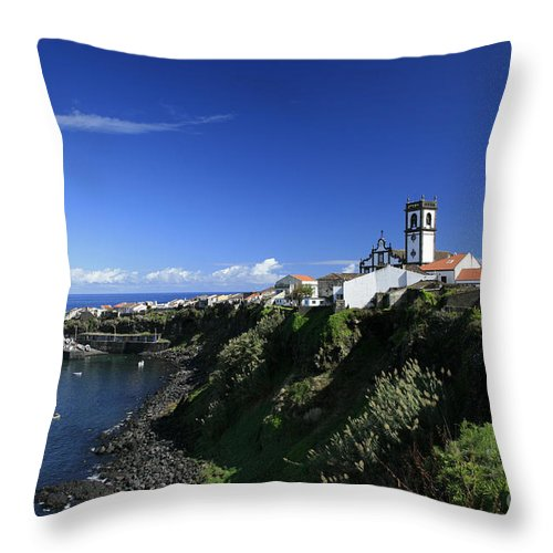 Azores Throw Pillow featuring the photograph Rabo De Peixe by Gaspar Avila