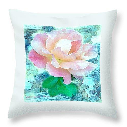 Michelle Benjamin Throw Pillow featuring the digital art Rachael's Rose by Michelle Benjamin