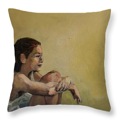 Portrait Throw Pillow featuring the painting Rachel by Craig Newland