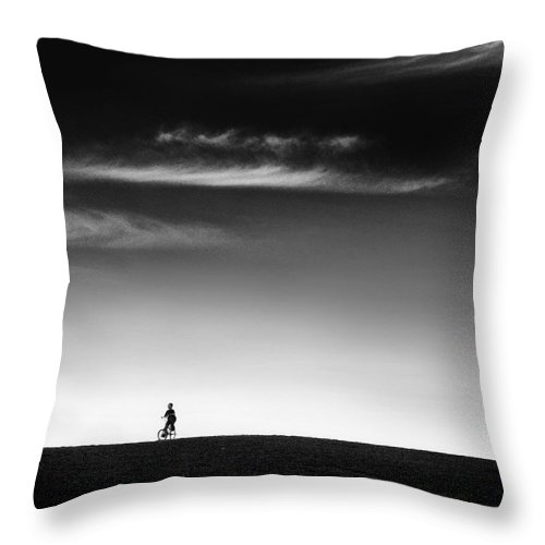 Boy Throw Pillow featuring the photograph Racing The Wind by Dana DiPasquale