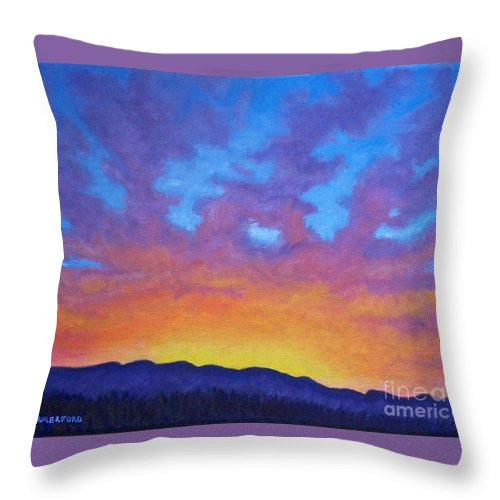 Landscape Throw Pillow featuring the painting Radiance by Brian Commerford
