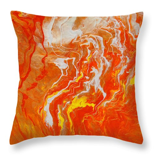 Fusionart Throw Pillow featuring the painting Radiance by Ralph White