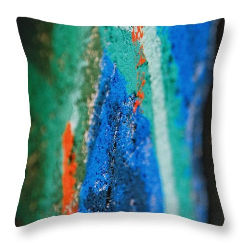 Color Throw Pillow featuring the photograph Radiating Colors by IlchaSV BeeDreamy
