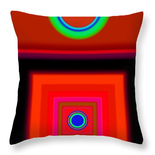 Classical Throw Pillow featuring the digital art Radio Palladio by Charles Stuart