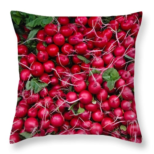 Radish Throw Pillow featuring the photograph Radishes by Thomas Marchessault