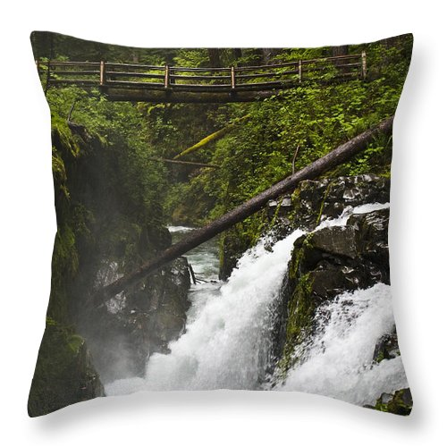 Water Throw Pillow featuring the photograph Raging Water Fall by Chad Davis