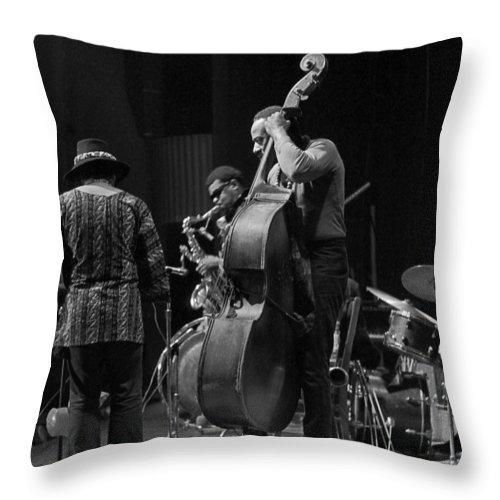 Rahsaan Roland Kirk Throw Pillow featuring the photograph Rahsaan Roland Kirk 2 by Lee Santa