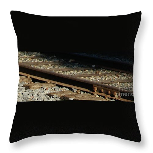 Rail Throw Pillow featuring the photograph Rail by Linda Shafer