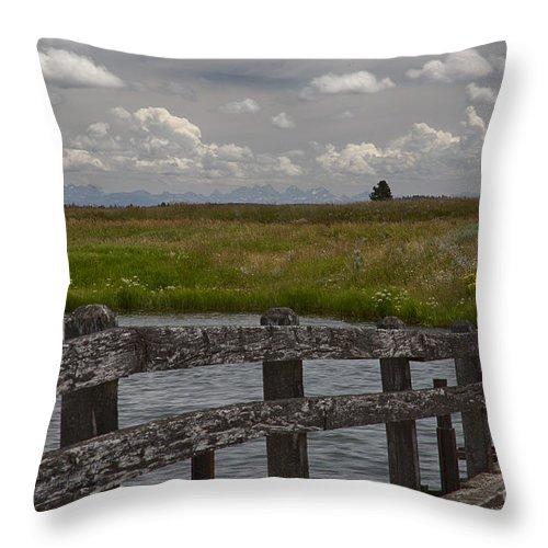 Eastern Idaho Throw Pillow featuring the photograph Railroad Bridge by Idaho Scenic Images Linda Lantzy