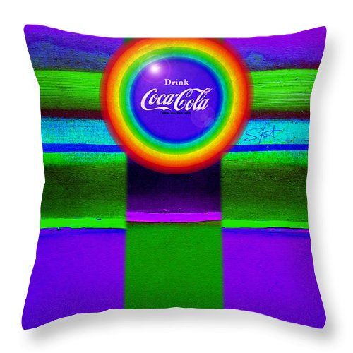 Violet Throw Pillow featuring the painting Rainbow by Charles Stuart