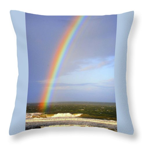 Rainbow Throw Pillow featuring the photograph Rainbow by Cynthia Frohlich