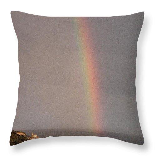 Rainbow Throw Pillow featuring the photograph Rainbow by Dragica Micki Fortuna