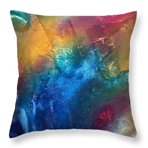 Wall Throw Pillow featuring the painting Rainbow Dreams II By Madart by Megan Duncanson