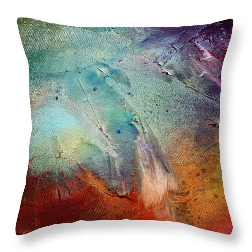 Wall Throw Pillow featuring the painting Rainbow Dreams IIi By Madart by Megan Duncanson