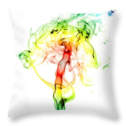Throw Pillow featuring the photograph Rainbow Explosion by Stephen Gleave