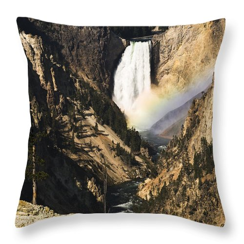 Falls Throw Pillow featuring the photograph Rainbow Falls 2 by Chad Davis