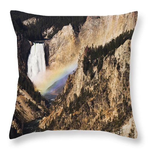 River Throw Pillow featuring the photograph Rainbow Falls by Chad Davis