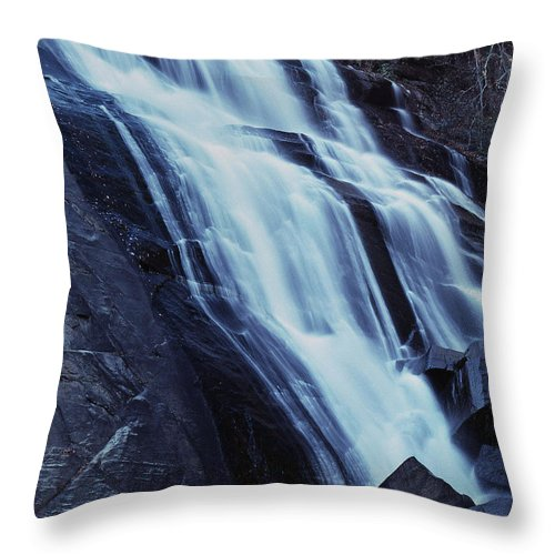 Waterfall Throw Pillow featuring the photograph Rainbow Falls by Richard Rizzo