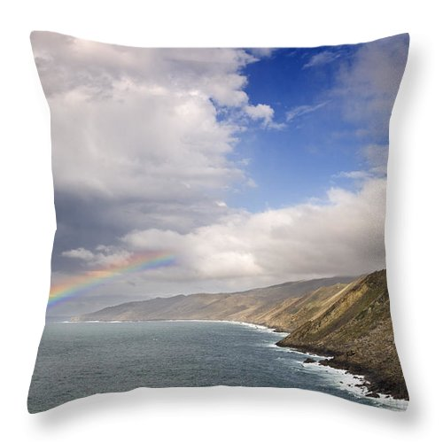 Spain Throw Pillow featuring the photograph Rainbow From The Sea by Rafa Rivas