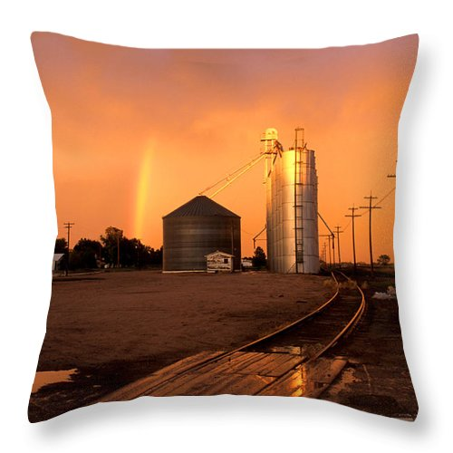 Potter Throw Pillow featuring the photograph Rainbow In Potter by Jerry McElroy
