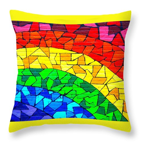 Rainbow Throw Pillow featuring the photograph Rainbow ... by Juergen Weiss